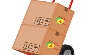 Cajas de embalaje para una mudanza.