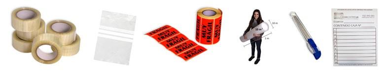 Material embalaje para cajas de cartón
