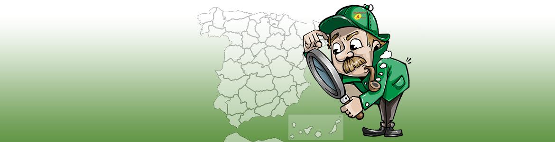 Listado de provincias de España donde prestamos servicios.