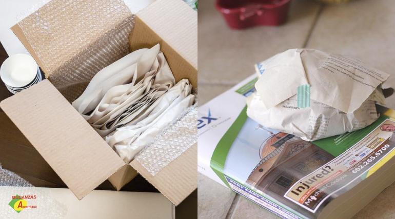 Lo mejor para conservar intactos tus objetos frágiles es envolverlos con los materiales adecuados.